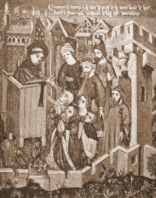 Munk prædiker på gaden