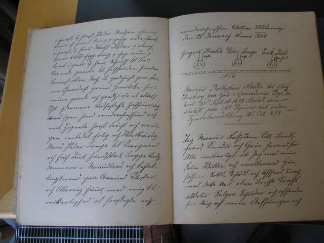 Marcus Rothsteins skøde til Oluf Parsberg 1649