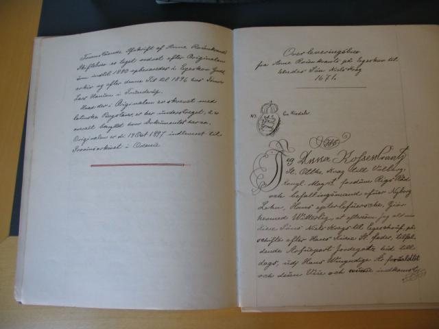 Overleveringsbrev til Niels Krag 1671