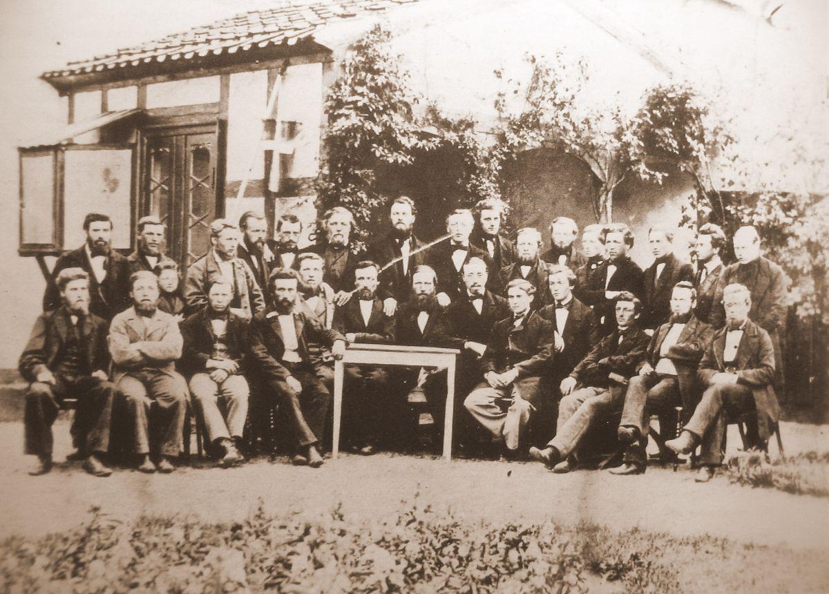 Lærermøde på Dalum højskole 1865 v. Christen Kold