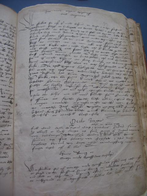 Kongens retterting - dombog 1537
