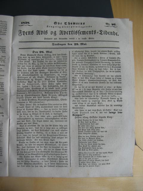 Fyens Avis 29. maj 1838