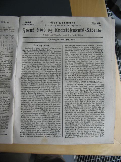 Fyens Avis 30. maj 1838