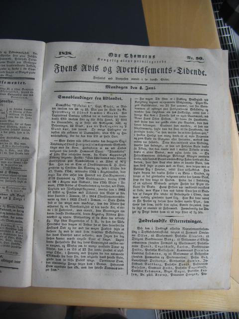 Fyens Avis 4. juni 1838