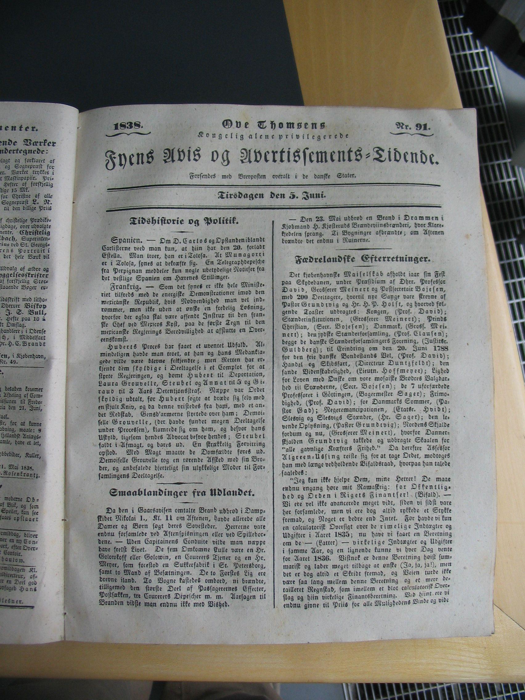 Fyens Avis 5. juni 1838