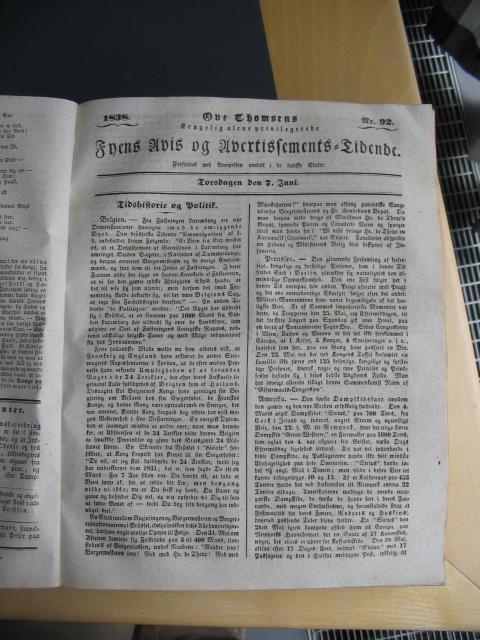 Fyens Avis 7. juni 1838