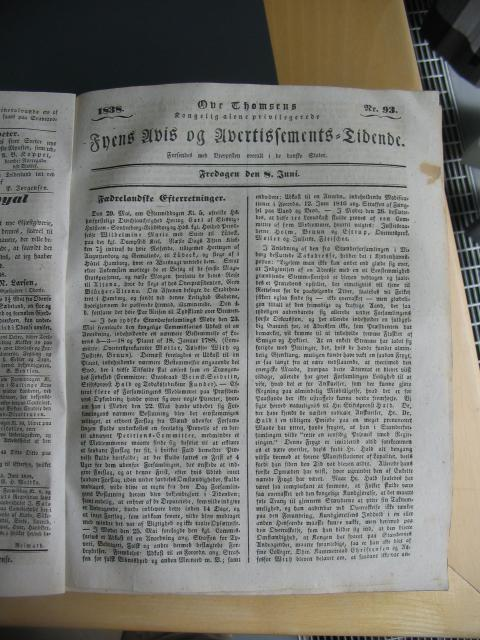 Fyens Avis 8. juni 1838