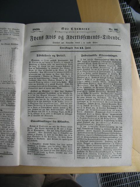 Fyens Avis 14. juni 1838