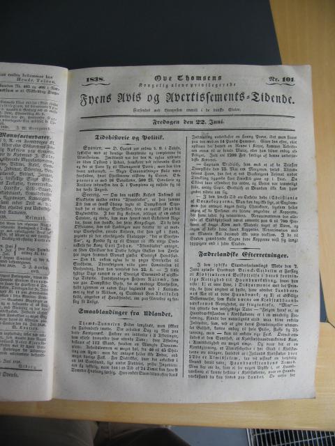 Fyens Avis 22. juni 1838