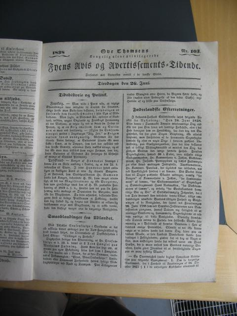 Fyens Avis 26. juni 1838