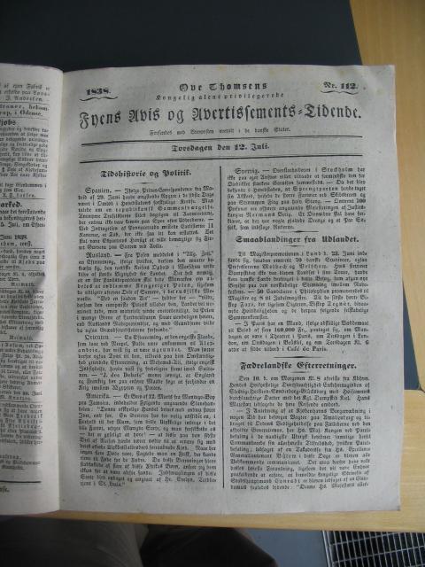 Fyens Avis - 12. juli 1838