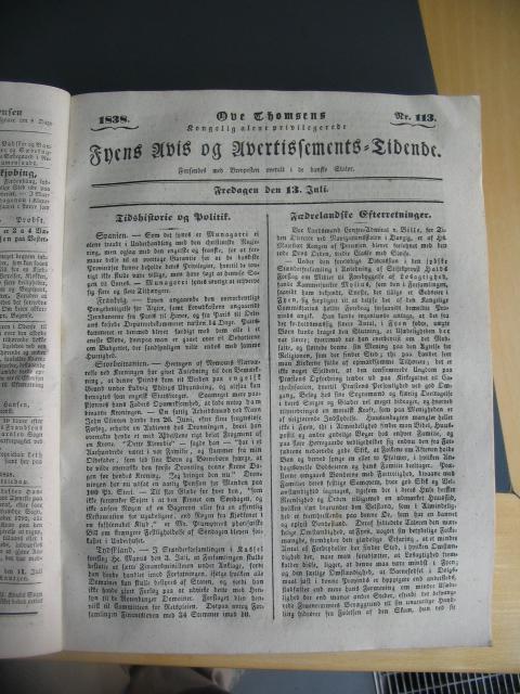 Fyens Avis - 13. juli 1838