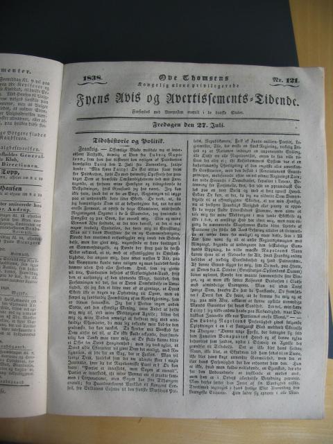 Fyens Avis - 27. juli 1838