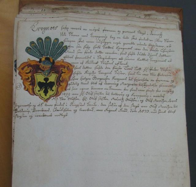 Krognos-slægten v. Anne Eilersdatter Rønnow (+1609)