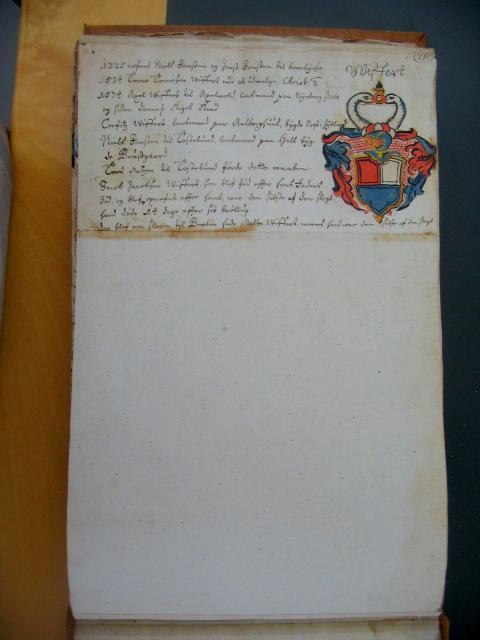 Viffert - fra Anne Eilersdatter Rønnows våbenbog