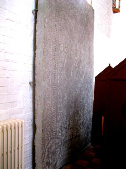 Claus Rønnows gravsten i Odense Sct Hans Kirke