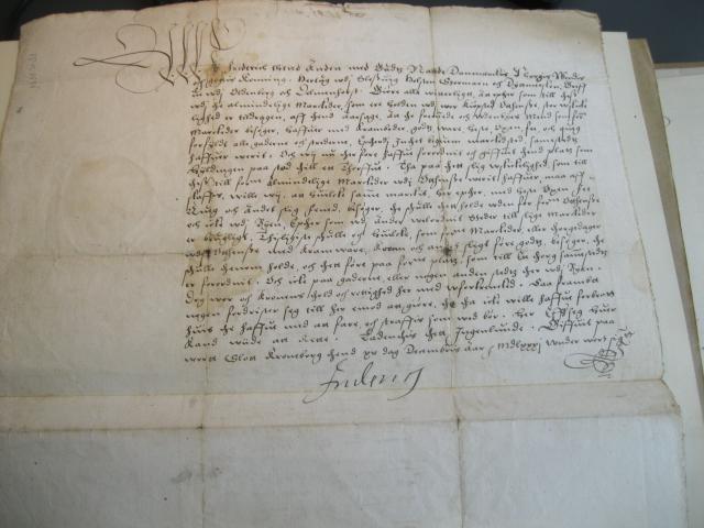 Kong Frederik II's åbne brev 1581 om markeder i Odense