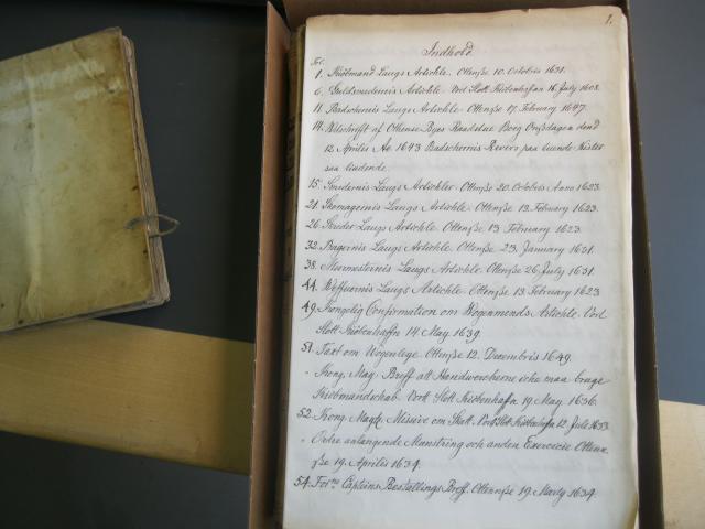 Embedsbog 1449-1701 - Indhold 1