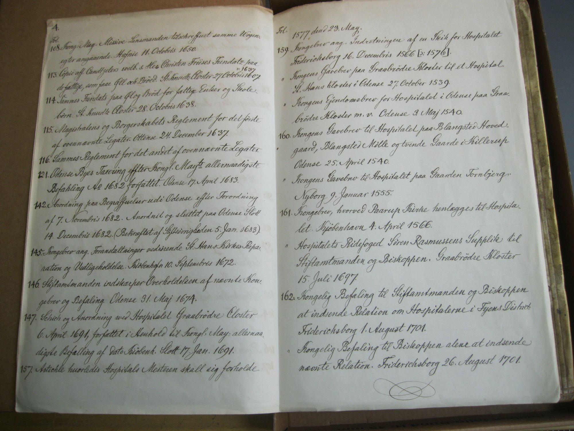 Embedsbog 1449- 1701 - Indhold 3