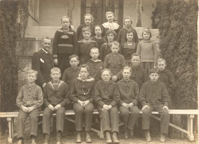 Konfirmanderne i foråret 1923
