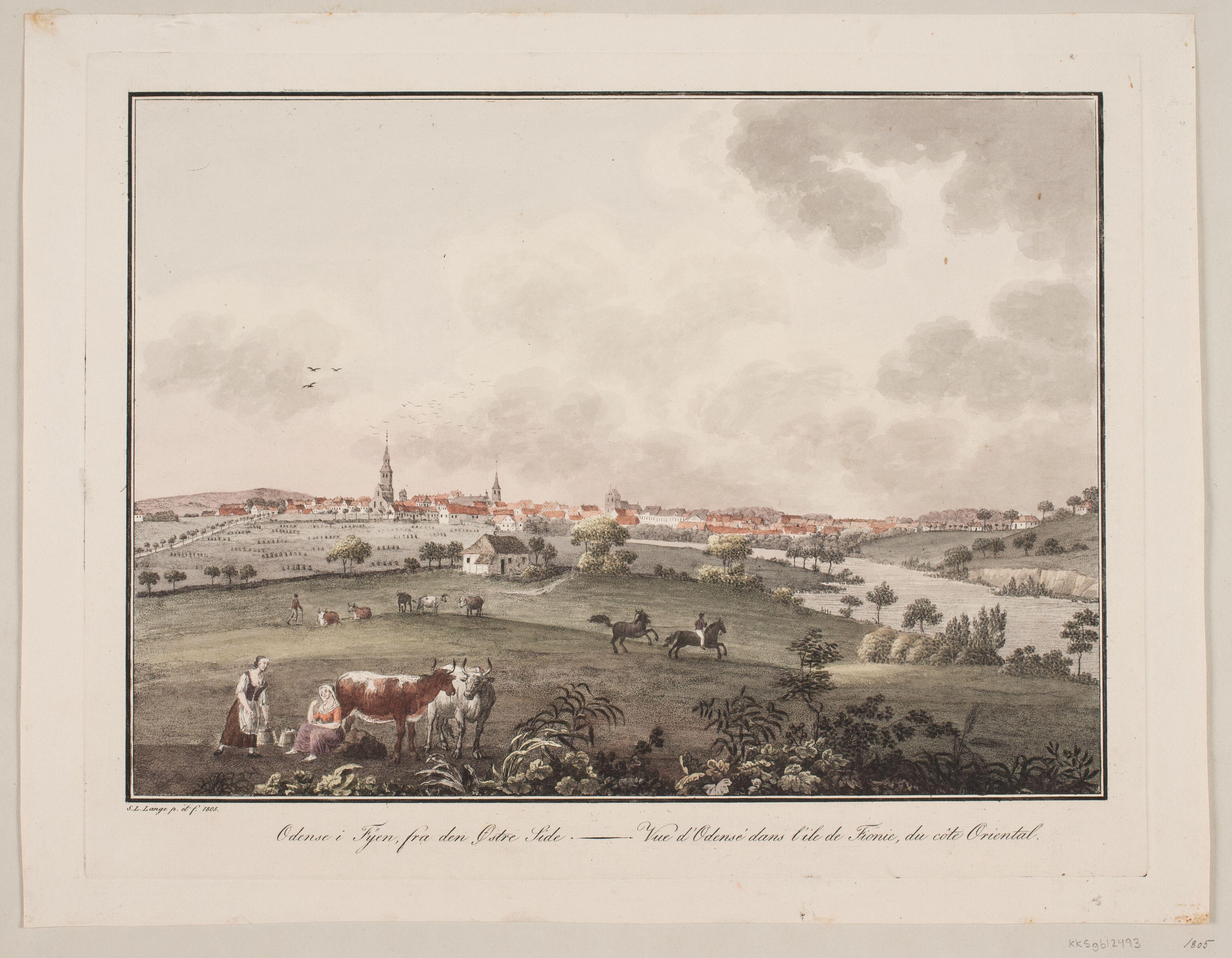 Som S.L. Lange så de fynske malkekøer i 1804-05