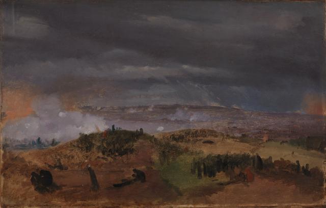 Endnu et studie af Jørgen V. Sonne fra Slaget ved Isted 1850
