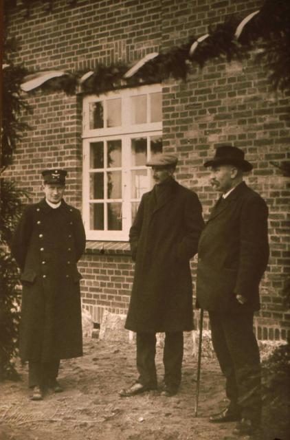 Ollerup station ved indvielsen 26.11. 1916