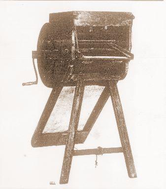 Niels Jensens rensemaskine fra 1830 - afl. til Dansk Landbrugsmuseum 1888