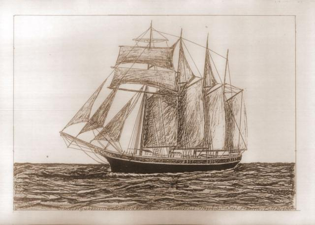 Svendborg skonnert - A.E. Sørensens flagskib i Edvard Broholm's streg