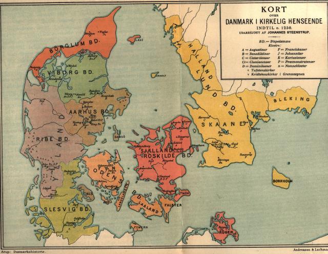 Danmarks kirkelige inddeling