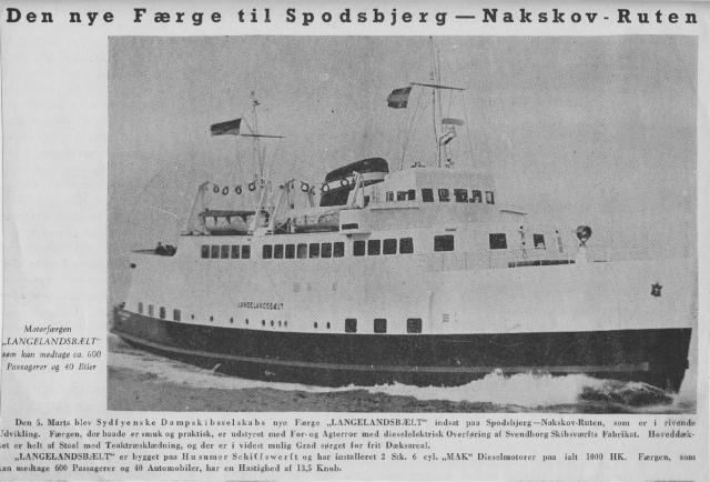 """""""Langelandsbælt"""" - den nye færge Spodsbjerg-Nakskov"""