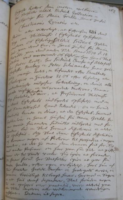 Ulrik Frederik Gyldenløves skilsmisse dom 1670