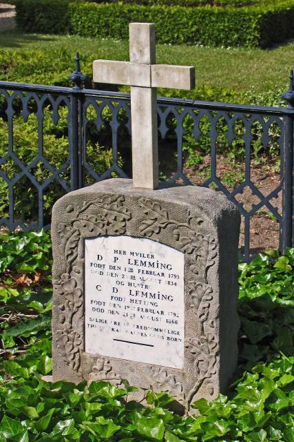 Grottesten sat i foråret 1867 over Dines Peter og Christiane Dorthea Lemming