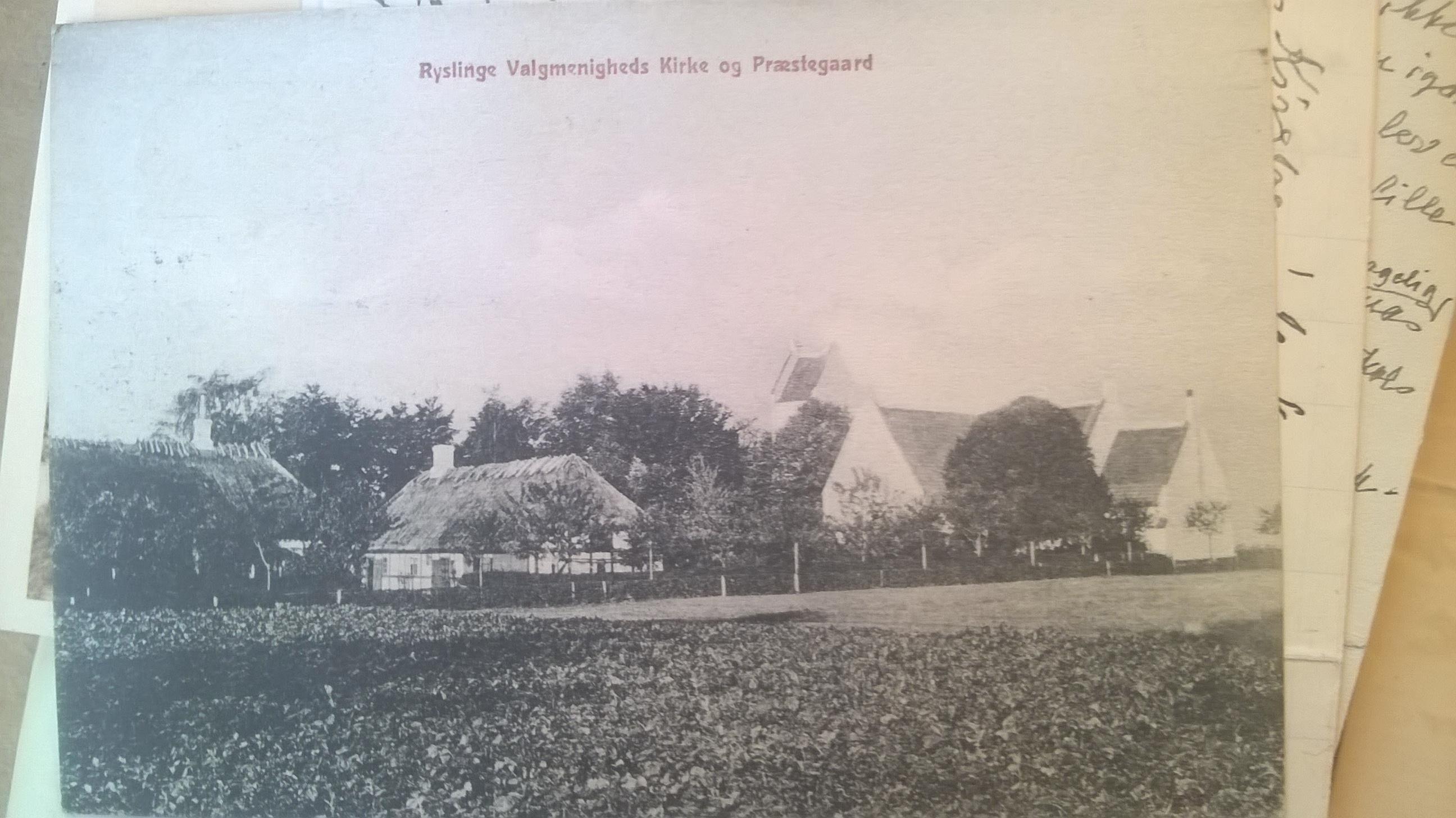Ryslinge Valgmenighed og Præstegård ca 1910
