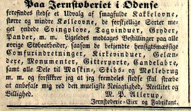 M.P. Allerup, Odense (1838)