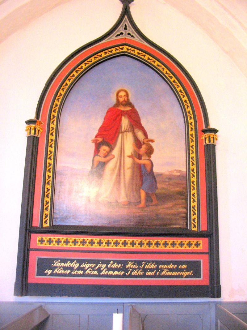 Gl. altertavle fra 1865 - Kværndrup kirke