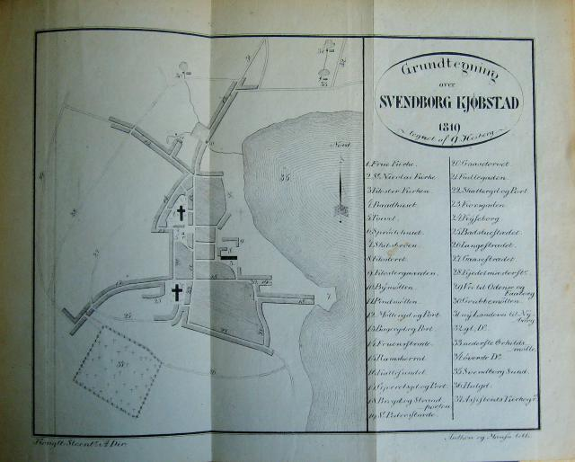 Kort over Svendborg 1819