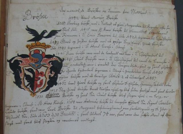 Bryske  -slægten - Anne Eilersdatter Rønnow's (+1609) slægtebog