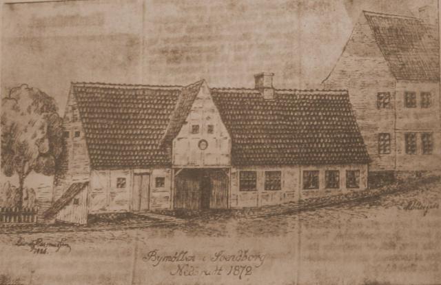 Bymøllen i Svendborg nedbrudt 1872