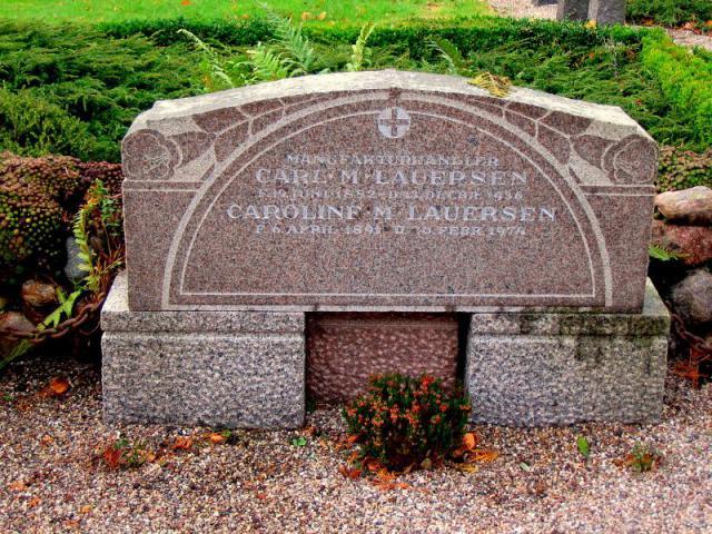 Manufakturhandler Carl M. Lauersen - Vester Skerninge kirkegård