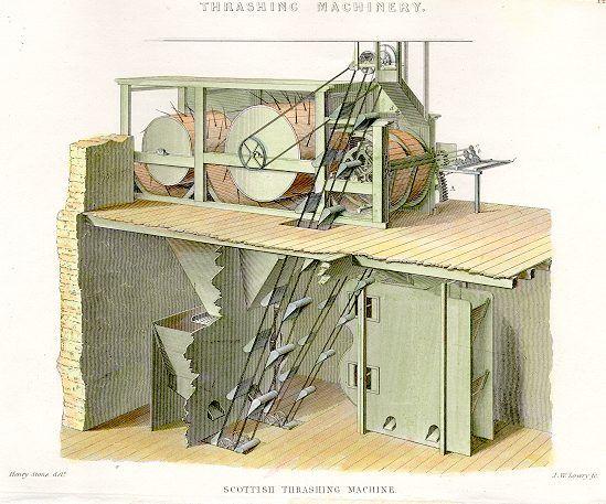 Skotsk tærskemaskine