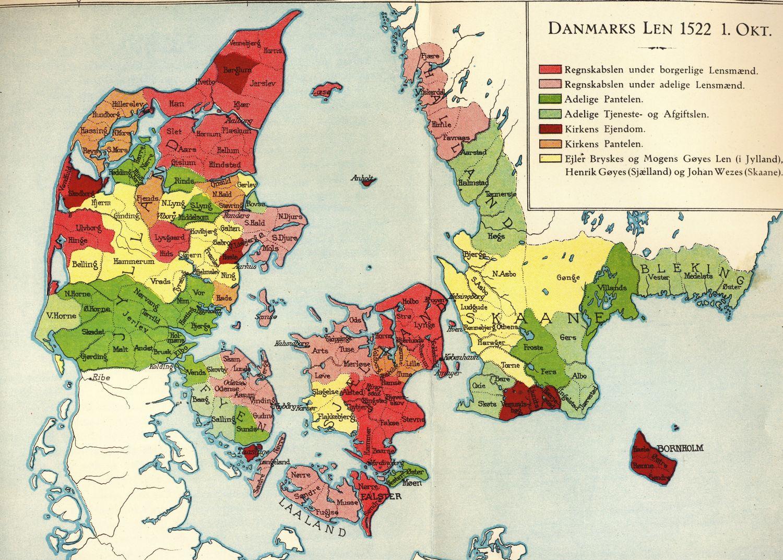 Danske Len 1522 Arups Danmarkshistorie Fynhistorie Dk