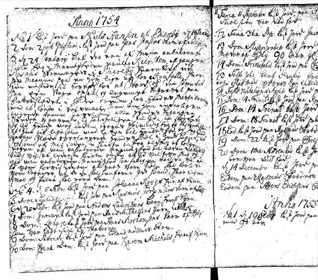Bjerreby kirkebog 1754