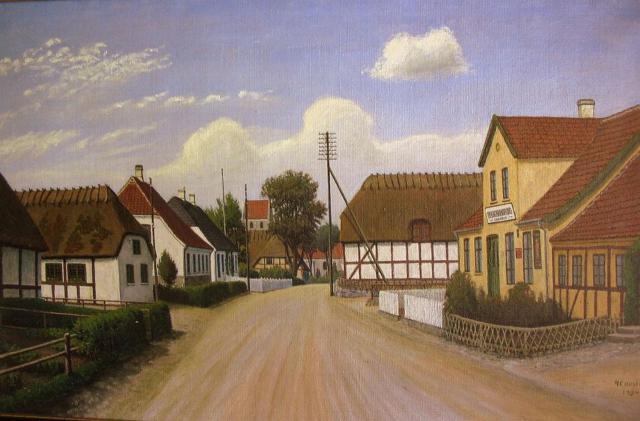 Det gamle Stenstrup med kroen, hvor Isbrand Bekker var kromand