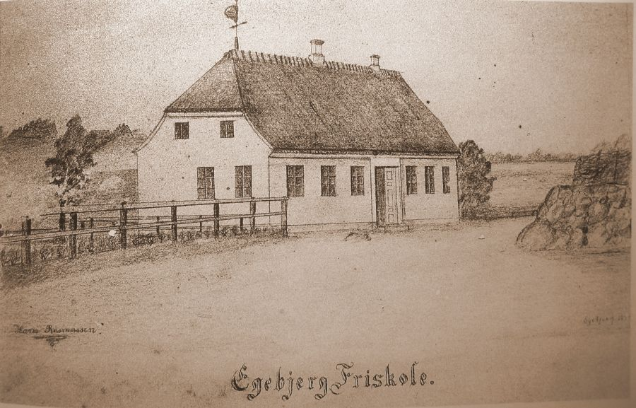 Egebjerg friskoles nye bygning (opf. 1874)
