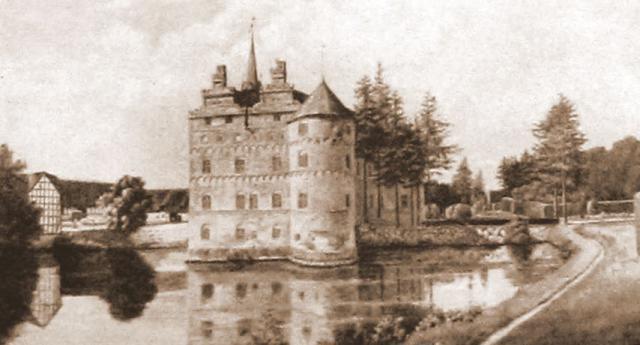 Egeskov efter maleri 1854