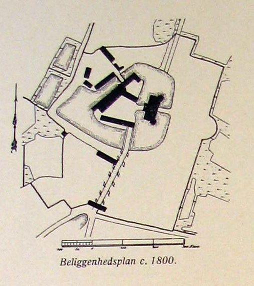 Egeskov - beliggenhedsplan 1800