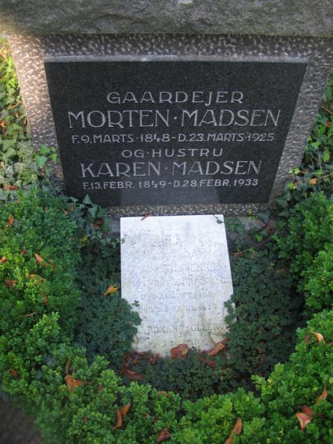 Gårdejer Morten Madsen - Ollerup kirkegård