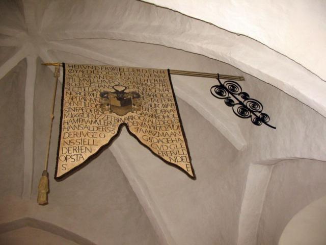 Gravfane o. Anders Skeel til Birkelse og Mullerup (+1702)- Gudbjerg kirke