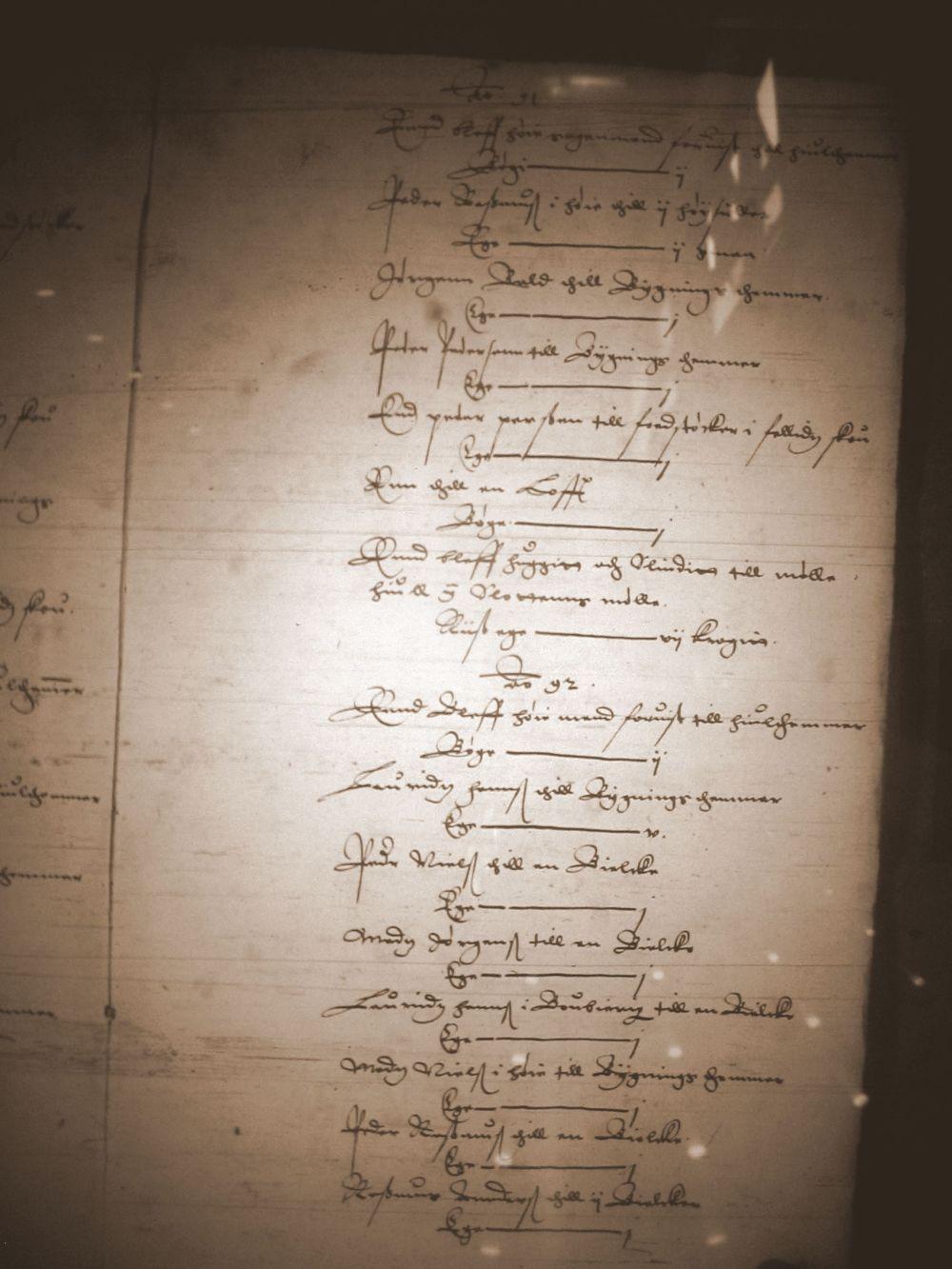 Nyborg len regnskab 1598-99 - udvisning af tømmer til bønder i Lunde sogn